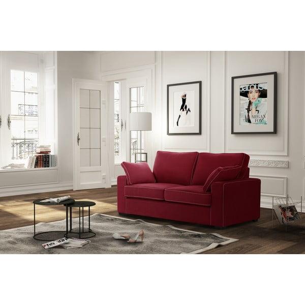 Dvoumístná pohovka Jalouse Maison Serena, červená