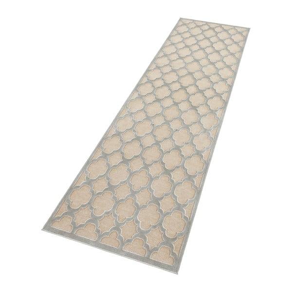 Šedokrémový běhoun Mint Rugs Shine Mero, 80 x 250 cm