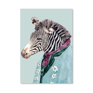 Plakát Zebra, 30x42 cm