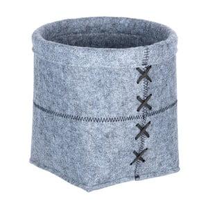 Světle šedý plstěný košík Wenko Mara, šířka20cm