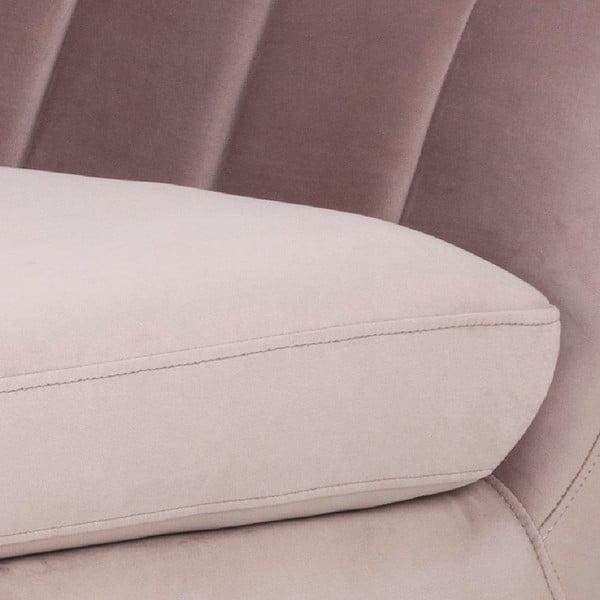 Canapea cu 3 locuri Actona Doria, roz