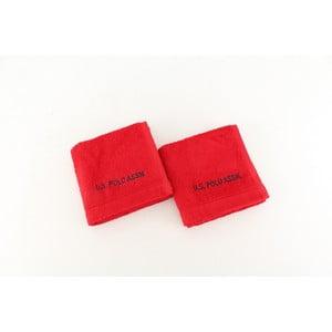 Sada 2 osušek U.S. Polo Assn. Wash Red, 30x50 cm