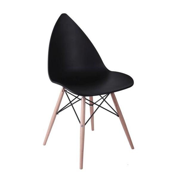Černá židle Rush Wood