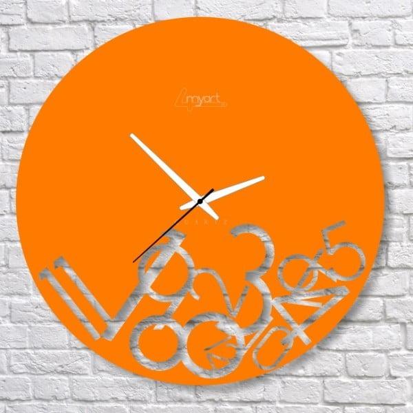 Nástěnné hodiny Orange Confusion