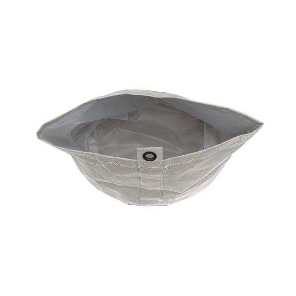 Coș din hârtie lavabilă pentru rufe Furniteam Home, ⌀ 23 cm, gri