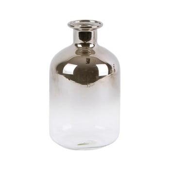 Vază mică din sticlă PT LIVING Silver Tube, înălțime 10 cm