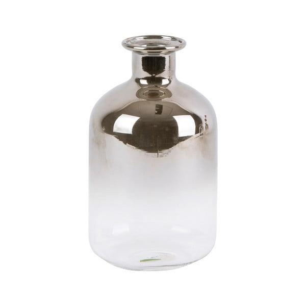 Silver Tube kisméretű üvegváza, magasság 10 cm - PT LIVING