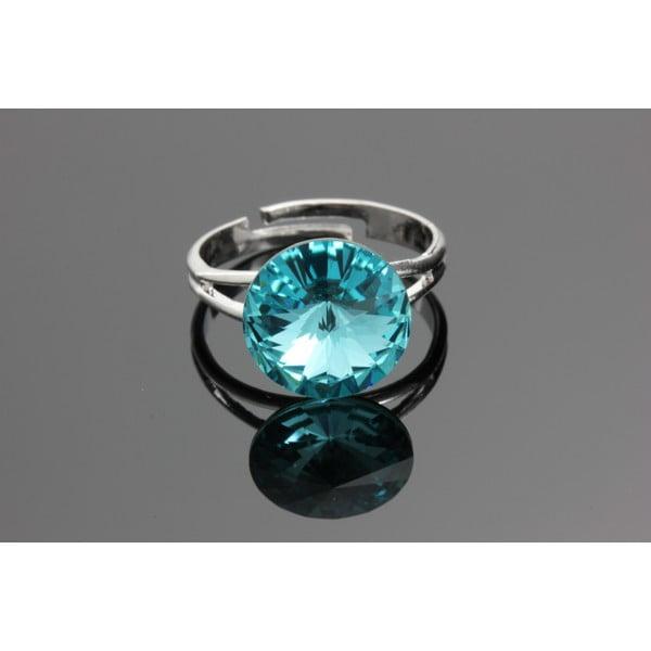 Prsten Rivoli Aqua se Swarovski Elements, univerzální velikost