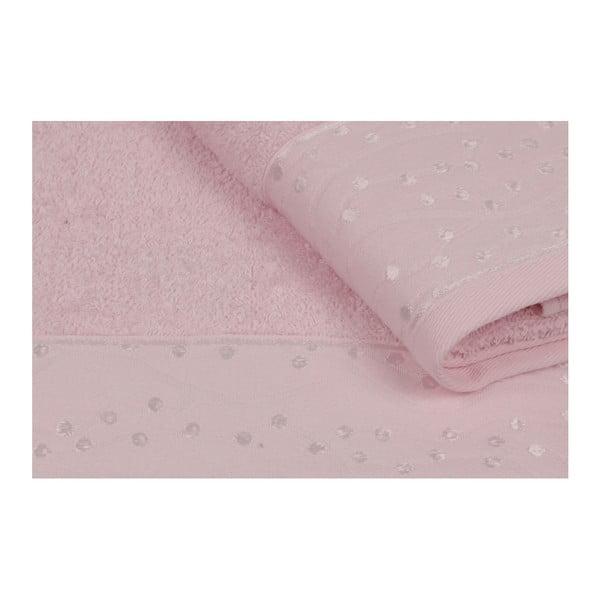 Sada 2 fialových ručníků z čisté bavlny Tomka, 90 x 150 cm