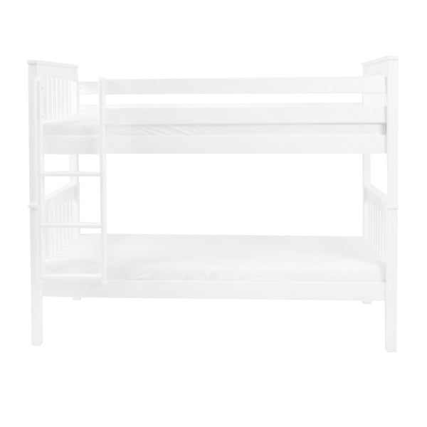 Bílá dětská palanda z masivního bukového dřeva Mobi furniture David, 200x90cm