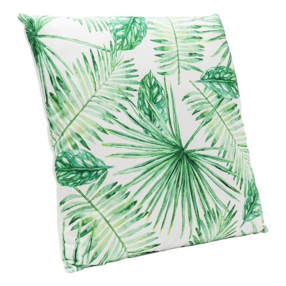 Zelený polštář Kare Design Leaf, 45x45cm