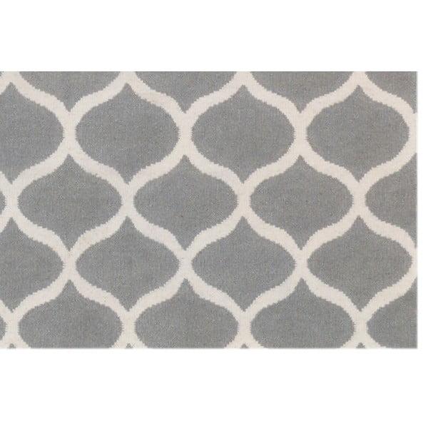 Stříbrný vlněný koberec Bakero Alize, 140x200cm