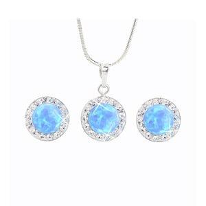 Set náušnic a náhrdelníku Laura Bruni Blue Opal