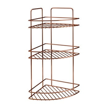 Etajeră pe colț cu 3 rafturi pentru baie Metaltex Copper imagine