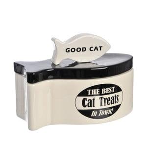 Keramická mísa na kočičí pamlsky B&W