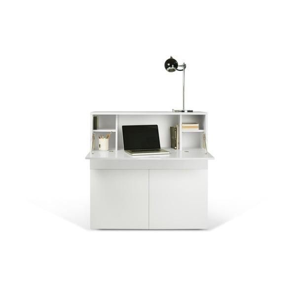 Białe biurko TemaHome Focus, 110x109 cm