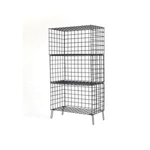 Černá kovová úložná skříňka Really Nice Things, 56 x 100 cm