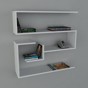 Police Confier Book White, 22x90x87 cm