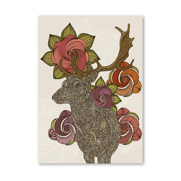 Autorský plakát Dear Deer od Valentiny Ramos