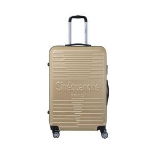 Cestovní kufr na kolečkách v barvě šampaň SINEQUANONE Bobby, 107l