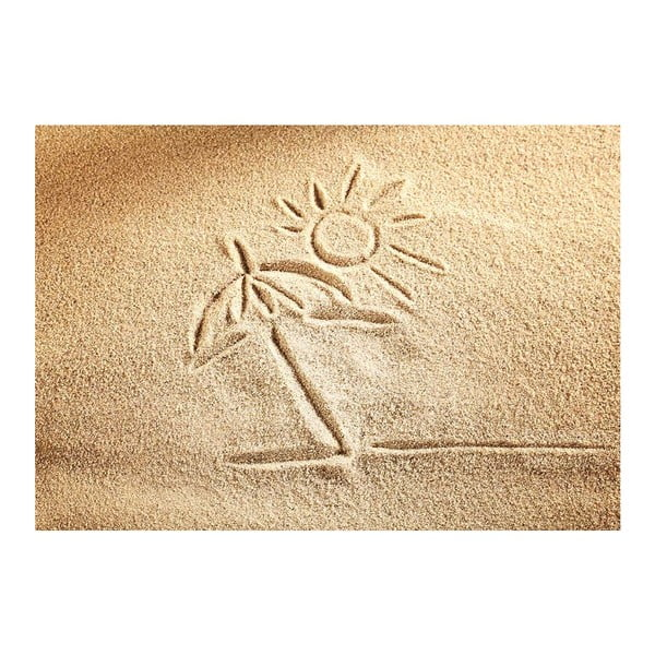 Covoraș din vinilin Sand, 52x75 cm