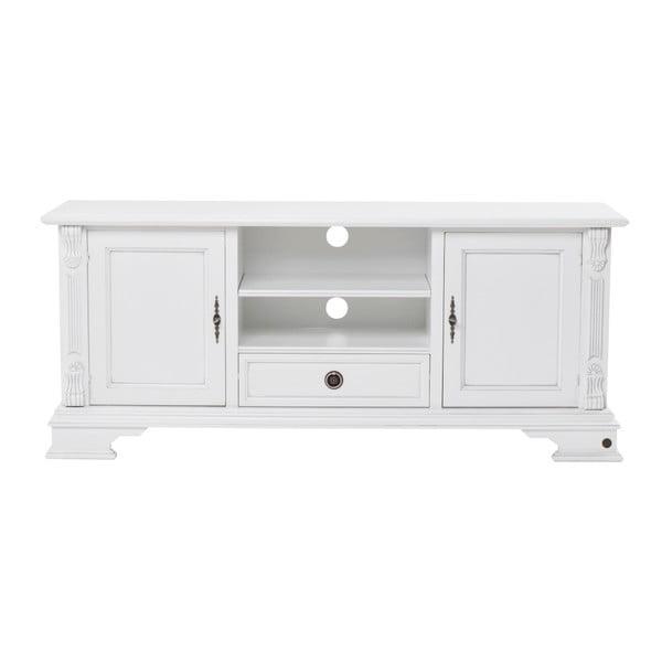Bílá dřevěná TV komoda Folke Mozart Figaro, délka 152 cm