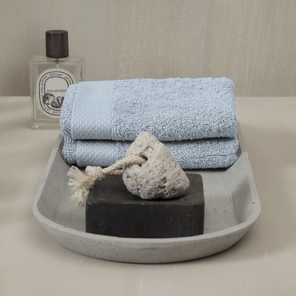 Set 3 ručníků Pure Blue, 30x50 cm