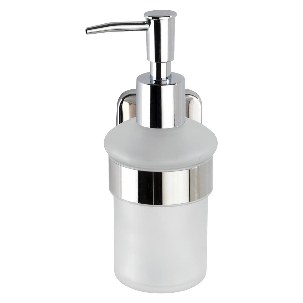 Produktové foto Bílý nástěnný dávkovač na mýdlo s držákem z nerezové oceli Wenko Mezzano