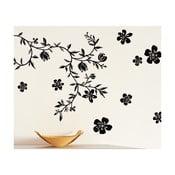 Samolepka na zeď Černé květiny