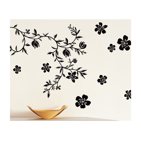 Autocolant pentru perete Flori negre