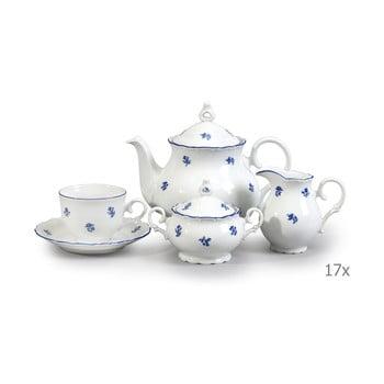 Set veselă din porțelan pentru ceai, cu motive albastre Thun Ophelia imagine