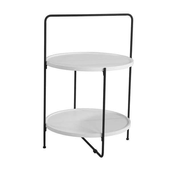Białoc-zarny stolik sømcasa Alessio, ø 45 cm