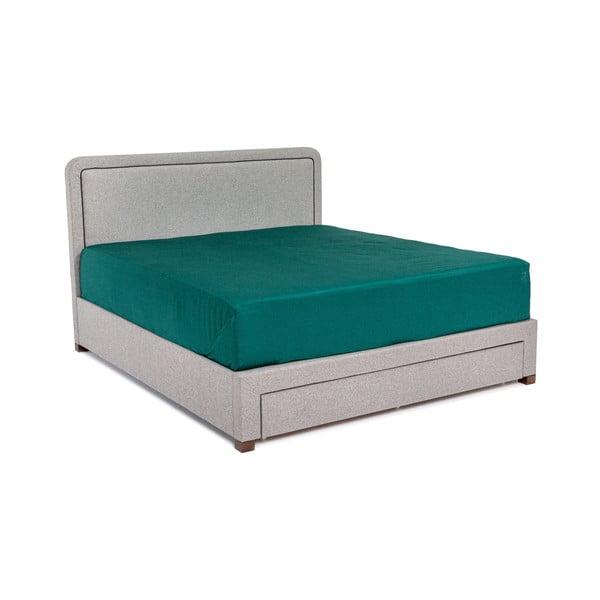 Šedá dvoulůžková postel Chez Ro Sascha,160x200cm