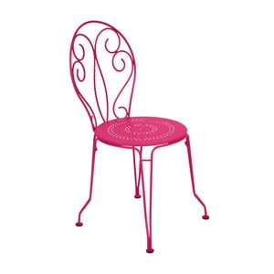 Růžová kovová židle Fermob Montmartre