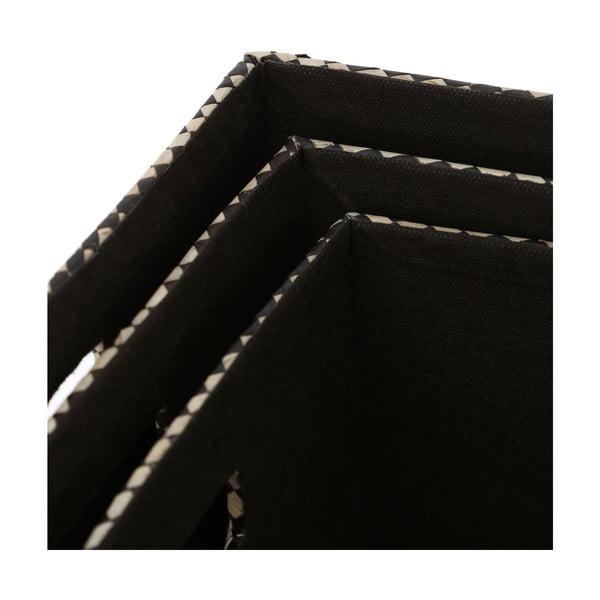 Sada 3 úložných boxů Pandanus