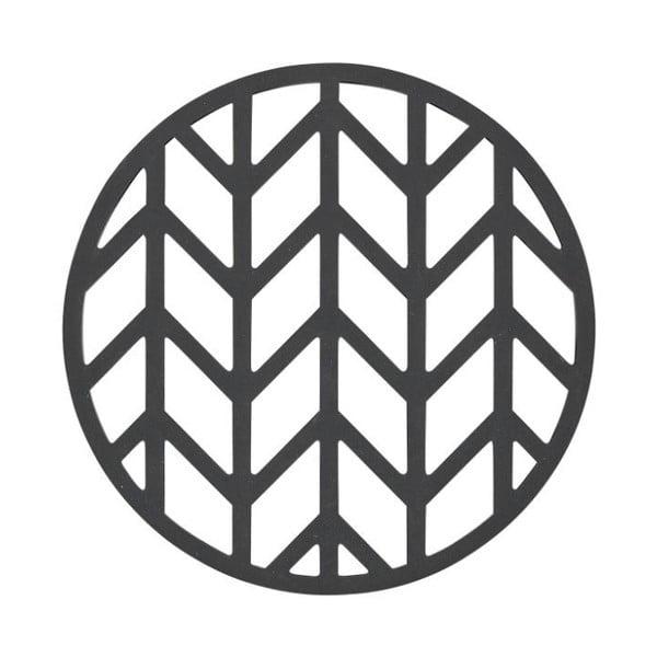 Crop fekete szilikon edényalátét, ⌀ 14,5 cm - Zone