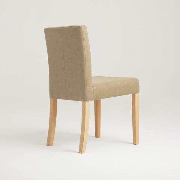 Béžová židle s přírodními nohami Custom Form Wilton