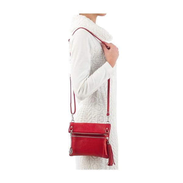 Kožená kabelka Roberto, červená