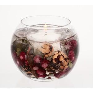 Kulatá svíčka Botanical, červený rybíz a brusinka