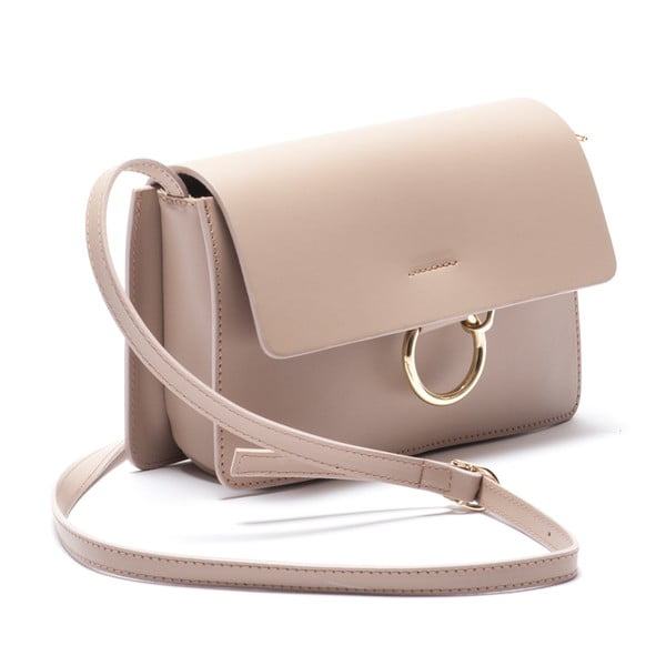 Kožená kabelka Carena, růžová
