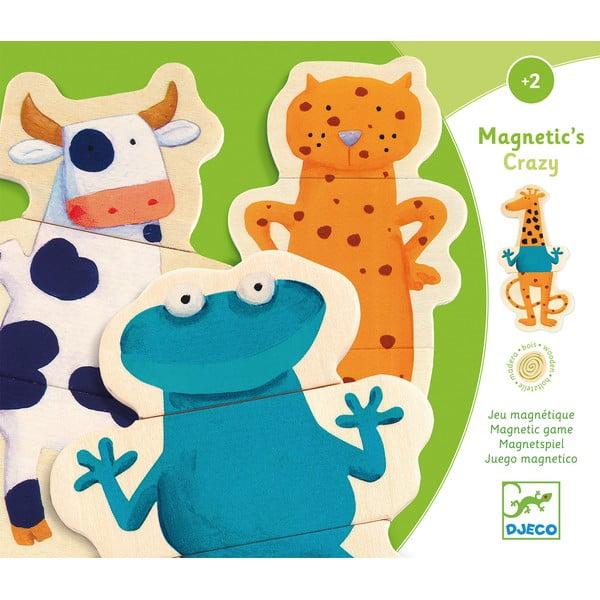 """Puzzle magnetic pentru copii Djeco """"Animăluțe"""""""