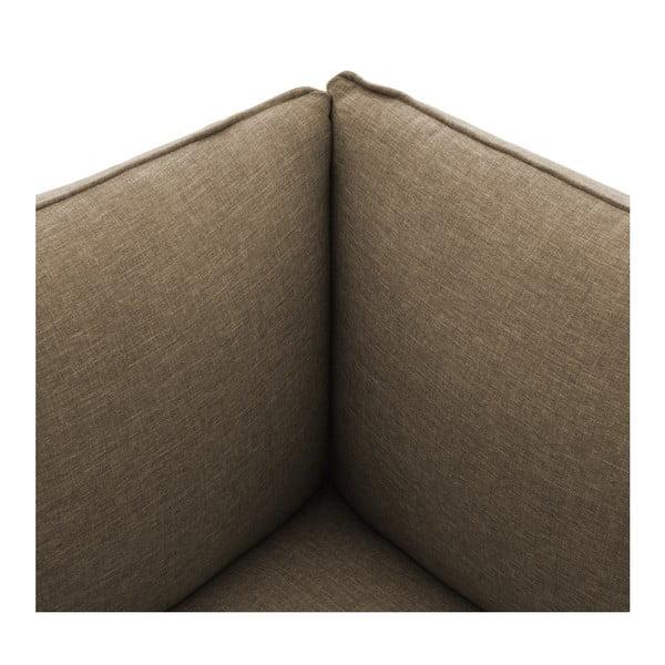 Béžová dvoumístná modulová pohovka s podnožkou Vivonita Cube