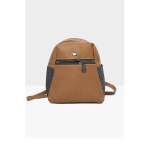 Hnědý dámský batoh Mori Italian Factory Magna