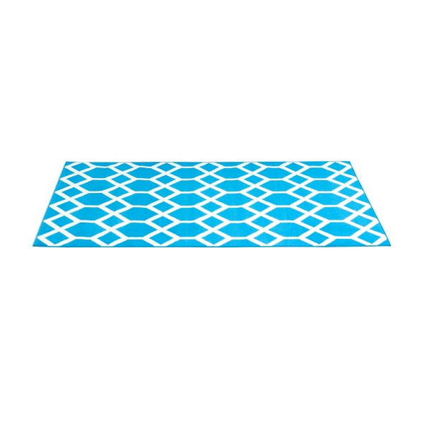 Modrý koberec Velour, 160x225 cm