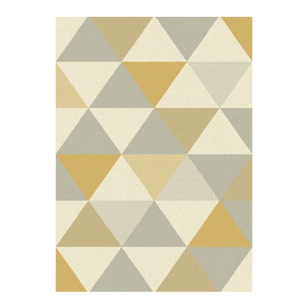Koberec Asiatic Carpets Focus Triangles Ochre, 120x170 cm