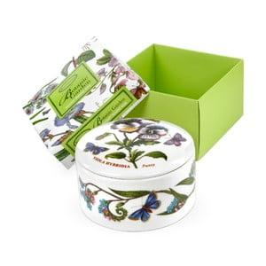 Kulatá ozdobná krabička z porcelánu Portmeirion, ø 9,5 cm