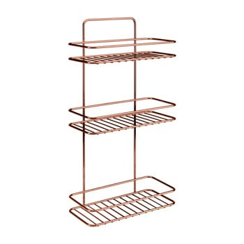 Etajeră cu 3 rafturi pentru baie Metaltex Copper de la Metaltex