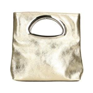 Kožená kabelka ve zlaté barvě Chicca Borse Lumino