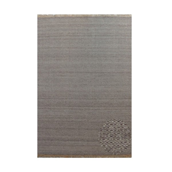 Vlněný koberec Kyla Udek Brown, 80x250 cm