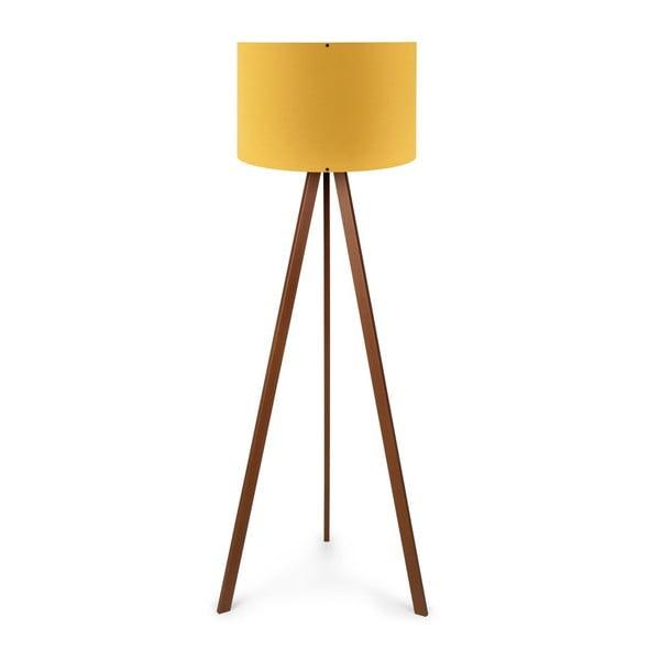 Žlutá stojací lampa Nore